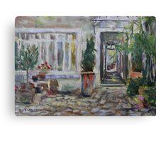 Double courtyard Rue Rodier Paris France Canvas Print