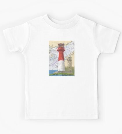 Cape Spencer Lighthouse NB Canada Chart Cathy Peek Kids Tee