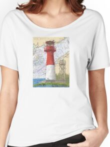 Cape Spencer Lighthouse NB Canada Chart Cathy Peek Women's Relaxed Fit T-Shirt