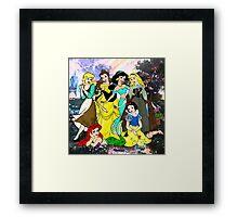 Splattered Disney Princesses Framed Print