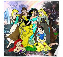 Splattered Disney Princesses Poster