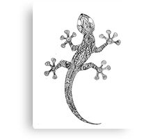 black-white gecko Canvas Print