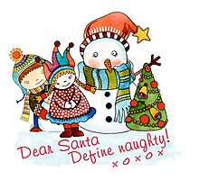 Dear Santa Define Naughty - 3 Photographic Print