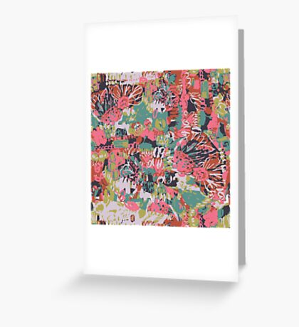 Floral Graffiti Greeting Card
