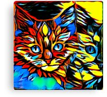 Painted Kittens Canvas Print
