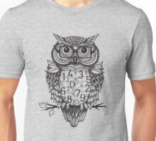 Owl sketch with numbers, glasses Unisex T-Shirt