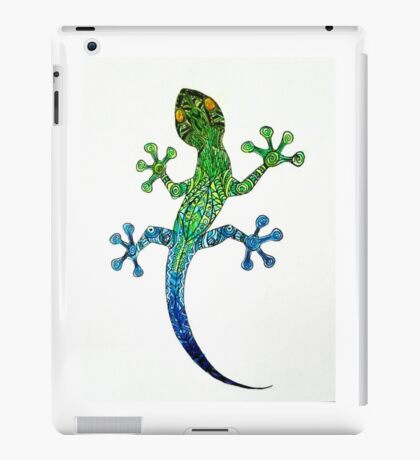 colored mandala gecko iPad Case/Skin