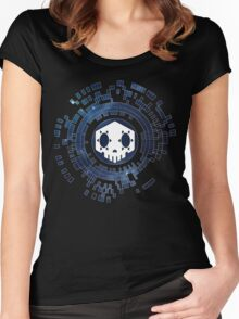 Skycode: Sombra (Skull Sky) Women's Fitted Scoop T-Shirt