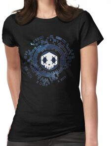Skycode: Sombra (Skull Sky) Womens Fitted T-Shirt