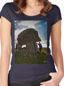 Kilclooney Dolmen, County Donegal Women's Fitted Scoop T-Shirt