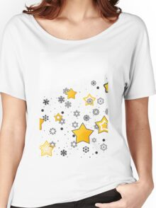 Star background Women's Relaxed Fit T-Shirt