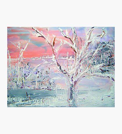 First Snowfall Photographic Print