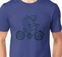 Fish on a bike tee Unisex T-Shirt