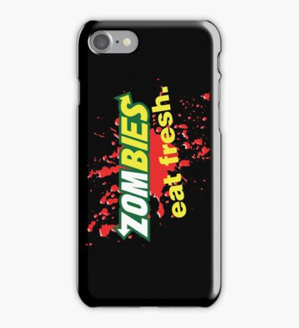 Zombies Eat Fresh Variant iPhone Case/Skin