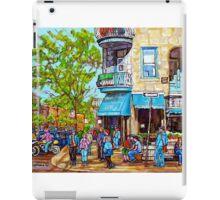 SUE ST.VIATEUR CAFE OLIMPICO MONTREAL SUMMER STREET SCENE iPad Case/Skin