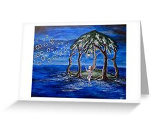Bubbles On The Wind Greeting Card