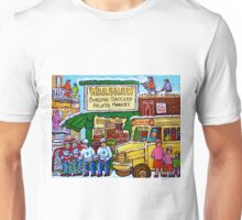 RUE ST.LAURENT VINTAGE GROCERY STORE SIMCHA'S FRUIT SHOP Unisex T-Shirt
