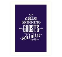 Haunted Mansion - Grim Grinning Ghosts Art Print