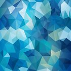 Abstract Geometric Polygon Sea by marmalademoon