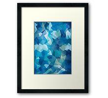 Abstract Geometric Polygon Sea Framed Print
