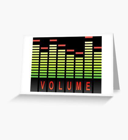 Volume levels. Greeting Card