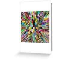 Abstract colour Greeting Card