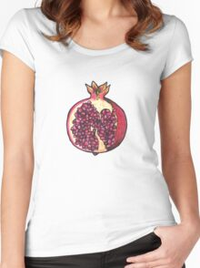 Pomegranate  Women's Fitted Scoop T-Shirt