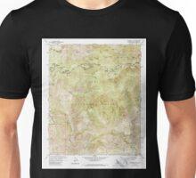 USGS TOPO Map California CA Waterman Mtn 295656 1959 24000 geo Unisex T-Shirt