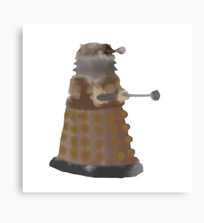 Watercolour dalek Canvas Print