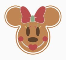 Gingerbread Minnie Mouse Christmas Design One Piece - Short Sleeve