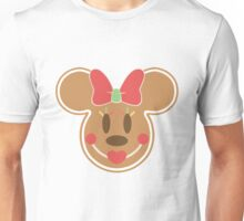 Gingerbread Minnie Mouse Christmas Design Unisex T-Shirt