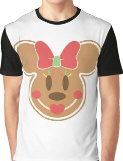 Gingerbread Minnie Mouse Christmas Design Graphic T-Shirt
