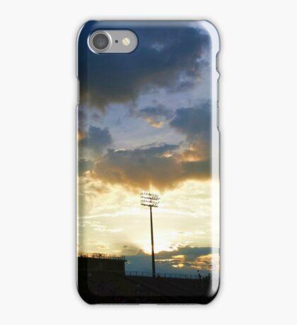 Sunset over Ed Defore Stadium iPhone Case/Skin