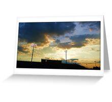 Sunset over Ed Defore Stadium Greeting Card