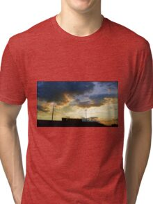 Sunset over Ed Defore Stadium Tri-blend T-Shirt