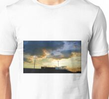 Sunset over Ed Defore Stadium Unisex T-Shirt