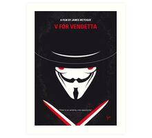 No319 My V for Vendetta minimal movie poster Art Print