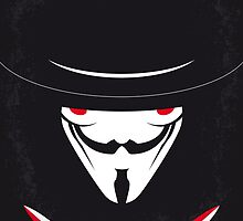 No319 My V for Vendetta minimal movie poster by Chungkong