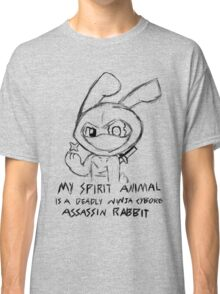 Deadly Ninja Cyborg Assassin Rabbit Classic T-Shirt