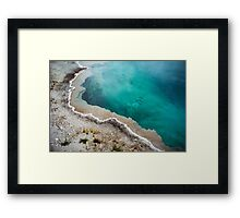 Yellowstone National Park - Hot Spring Blue Waters Framed Print