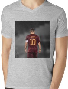 Francesco Totti 10 Mens V-Neck T-Shirt