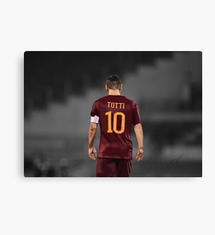 Francesco Totti 10 Canvas Print