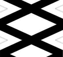 Corset in Black & White  Sticker