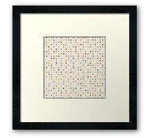 Background a square Framed Print