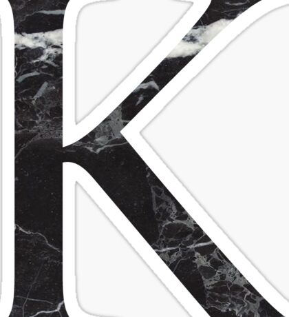 black marble k // kappa Sticker