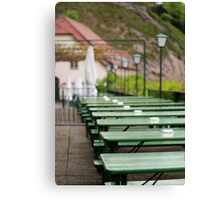 Green Beer Garden  Canvas Print