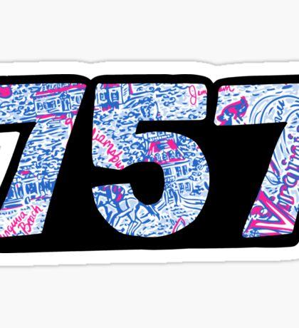 757 Lilly Sticker