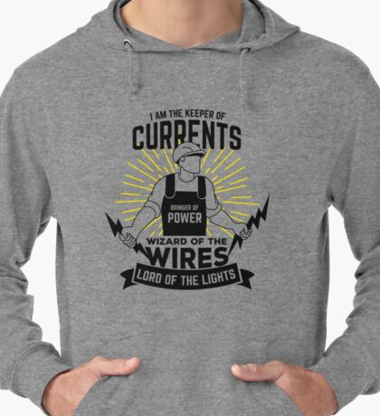 Electrician Quote Lightweight Hoodie