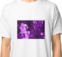 Purple Flower Print Classic T-Shirt