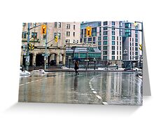 Down Pour - Ottawa Greeting Card